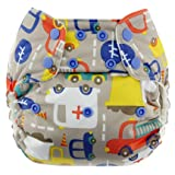 Best Blueberry Bottom Cloth Diaper Covers - Blueberry Diapers One Size Snap Pocket Diapers (Traffic) Review