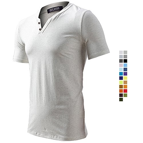 FLY HAWK T-Shirts for Men Ultra Soft Cotton Short Sleeve Shirts Summer Tops Beige Size 3XL by FLY HAWK