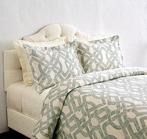 Waveland Bedding Collection, KING DUVET, GREEN BLUE (Crate Barrel Duvet)