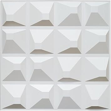 Art3d Decorative 3D Panels Textured Wall Design Board Pack of 12 Tiles 32  Sq Ft