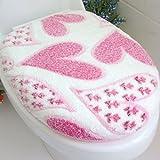 Coral Fleece Heart Toilet Seat Lid Clean Washable