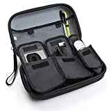 Action Camera Case with Adjustable Interior by USA Gear - Works With GoPro HERO+ LCD , HERO4 , HERO 3 HD & Other GoPro Accessories Such as Straps , Mounts , Batteries , Cables and Adapters