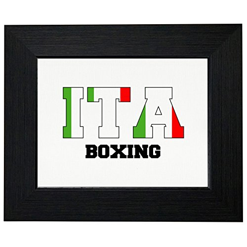 Italy Boxing - Olympic Games - Rio - Flag Framed Print Poster Wall or Desk Mount Options by Royal Prints