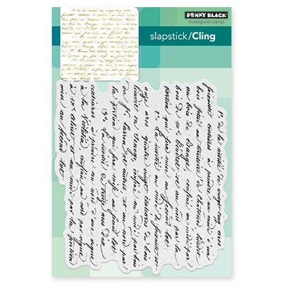Penny Black Script Cling Unmounted Rubber Stamp (40-470) (Script Stamp)