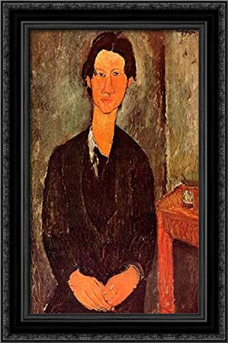 Chaim Soutine 0 17x24 Black Ornate Wood Framed Canvas Art by Modigliani, Amedeo Amedeo Modigliani Framed Canvas