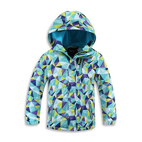 (Ausom 2017 Child Outdoor Cashmere Warm Waterproof Windproof Hood Jacket)