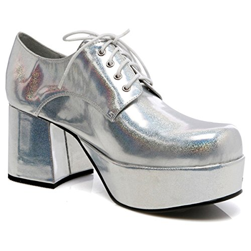 Pimp Adult Costume Shoes Silver -