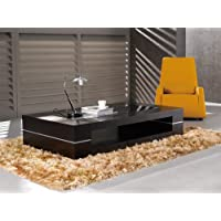 J&M Furniture Modern Coffee Table 682 in Dark Oak
