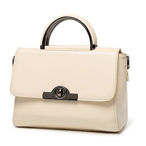 Kaisasi 2016 New Womens Leather Embossed Handbag Tide Small Square Package(offwhite)
