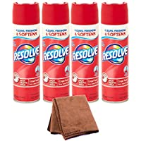 Resolve High Traffic Carpet Foam, 22 oz Can, Cleans Freshens Softens & Removes Stains, 4-Pack with Cleaning Cloth