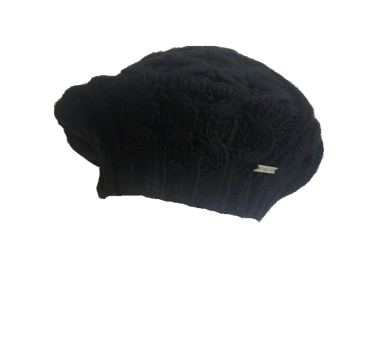 Michael Kors Cable Knit Beret, Black