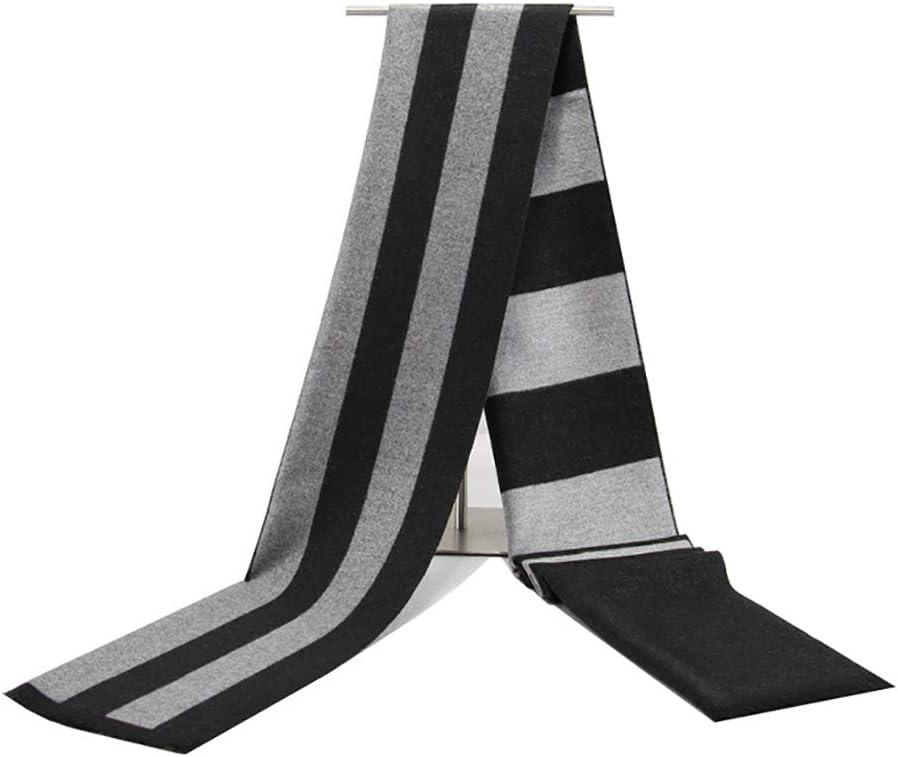 Zhukeke Mens Autumn Winter Warm Scarf Striped Grid Neckerchief Tartan Scarves Paisley Bandannas Bandelet 18030cm for Men Long Shawls Wear-Resistant Fashion Color : 2, Size : 18030CM