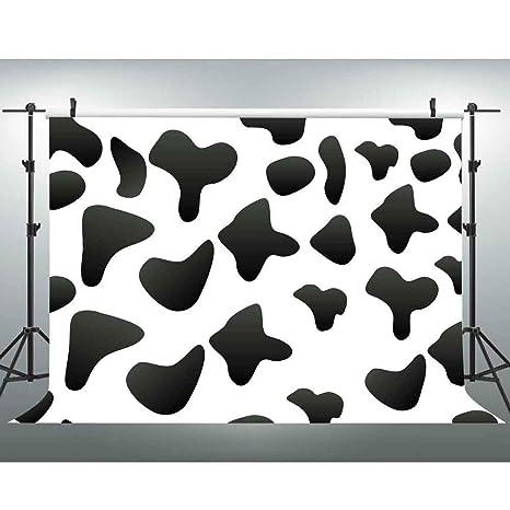 Amazon com : Cow Print Backdrop Farm Birthday Party