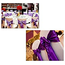 Texay(TM) 6pcs/lot Wedding Party Chair Cover 2016 New Arrival Home Decor Chair Covers Bowknot Housse De Chaise Mariage Decoration Band