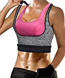 Womens Shapewear Weight Loss Neoprene Sauna Sweat Waist Trainer Corset Tank Top Vest Sport Workout Slimming Body Shaper (Grey(Adjustable Straps Vest), L(US 14))