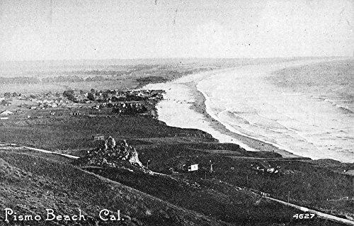 Pismo Beach California Birdseye View Of City Antique Postcard - Of City Pismo Beach