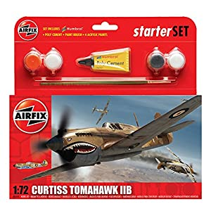 Airfix Curtiss Tomahawk IIB Starter Gift Set (1:72 Scale)