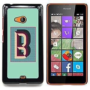 Stuss Case / Funda Carcasa protectora - B Carta trullo Caligrafía iniciales del alfabeto - Nokia Lumia 540