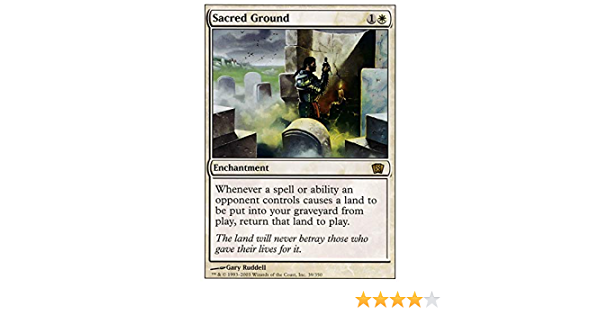 Magic the Gathering MTG Sacred Ground Eighth Edition   LP