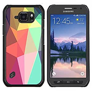 Stuss Case / Funda Carcasa protectora - Formas Lollipop Android púrpura - Samsung Galaxy S6 Active G890A