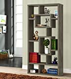 Cheap Coaster Home Furnishings Geometric Cubed Rectangular Bookcase Weathered Grey