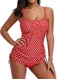 #6: WOOSEN Womens Swimsuit Tankini Stretchy 2 Piece Bathing Suits Bikini Set