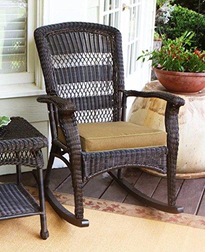 Tortuga Outdoor Portside Plantation Rocking Chair, Dark Roast