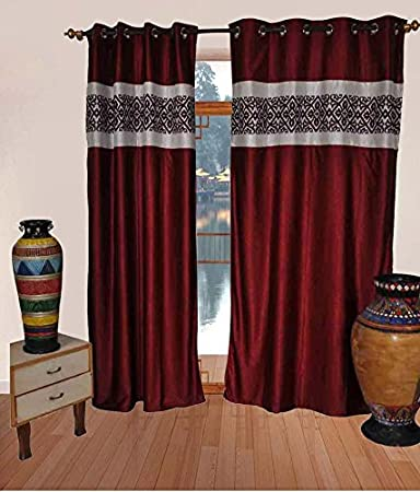 The Fancy Mart Red U0026 White Colour Living Room Curtain Style Code  3 ( Set Part 84
