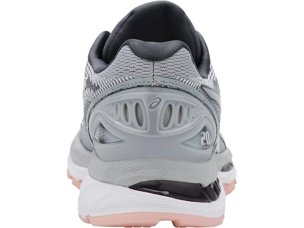 ASICS Women's Gel-Nimbus 20 Running Shoe, mid grey/mid grey/seashell pink, 5.5 Medium US by ASICS (Image #5)