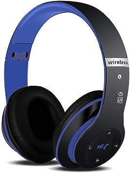 Auriculares inalámbricos 6S Hi-Fi estéreo, plegables, con micrófono incorporado, Micro SD/TF FM (para iPhone/Samsung/iPad/PC): Amazon.es: Electrónica