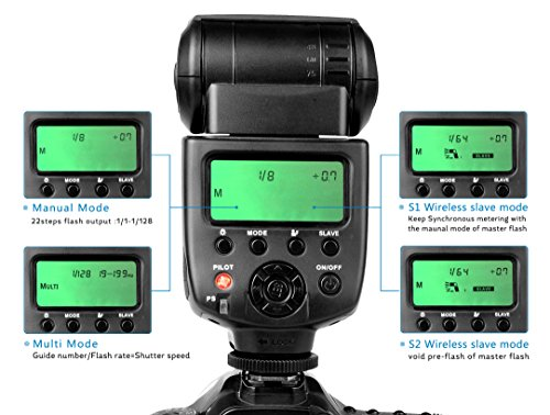 CameraPlus- CPM580 2.1'' LCD display Speedlite Flash  with T