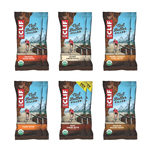 CLIF Nut Butter Filled - Organic Energy Bar - Variety Pack - Flavors May Vary (1.76oz Protein Snack Bar, 12 Count)