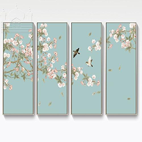 Sykdybz 中国では、ベゴニアの花のアールデコ調の絵画 30 X 90 Cm 、 4 リビングルームホテルクラブハウスは、 B07D5WH723 A A