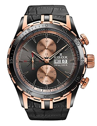 Edox Men's 01121 357RN GIR Grand Ocean Analog Display Swiss Automatic Grey Watch (7750 Swiss)