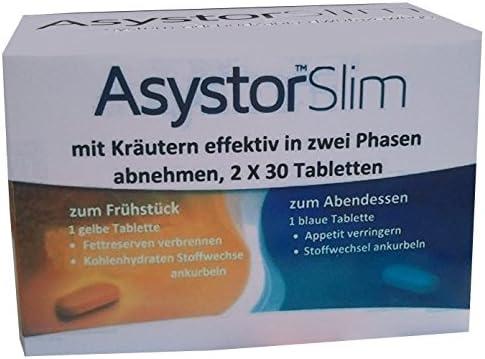 Asystor Slim - schnell natürlich Abnehmen effektiv mit 13 Kräutern, Fettverbrenner, auch unter der Haut - Cellulite...