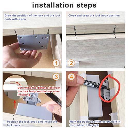 Smart Lock for Locker Drawer Smart Sensing Induction Cabinet Wardrobe Door Lock Home Security Locks JIEHED Electronic Opening Sensor Drawer Lock