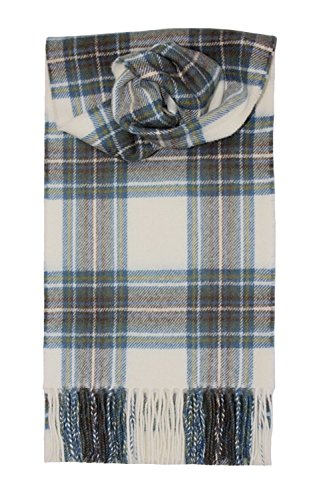 (Stewart (Dress Blue) Tartan Lambswool Scarf)