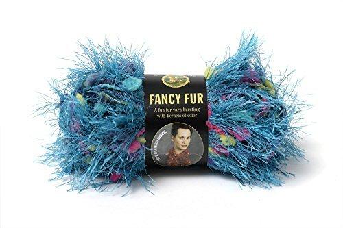 - Tropical Turquoise (Blue) Lion Brand Fancy Fur Eyelash Yarn