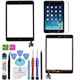 ipad 2 display oem - OmniRepairs Glass Touch Screen Digitizer Display OEM Assembly with Home Button Flex, IC Chip For iPad Mini (1st and 2nd Generation) with Adhesive Tape, Screen Protector and Repair Toolkit (Black)