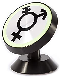 Tinmun Magnetic Phone Car Mount, Black Transexuel Gender Sex Neutral Universal Car Phone Holder for Dashboard