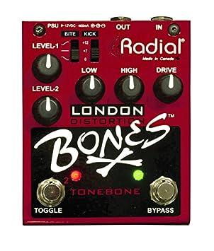 Tonebone Bones London - Interruptor para efectos de guitarra, color rojo