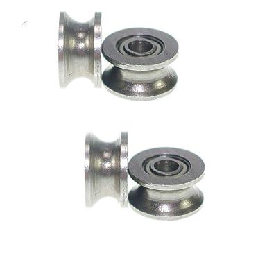 10pcs steel U Groove Guide Pulley Rail Track Ball Bearings Wheel 4x 13x 7mm Nm