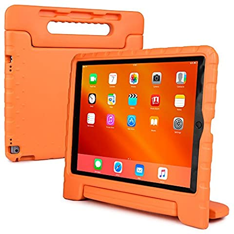 iPad Pro 12.9 kids case, COOPER DYNAMO Rugged Heavy Duty Children's Boys Girls Rubber Drop Proof Protective Carry Case Cover Handle, Stand & Screen Protector for Apple iPad Pro 12.9 inch (Military Grade Laptop Protector)