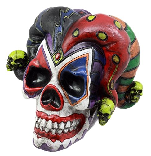 Ebros Gift Jester Clown Harlequin Joker Skull Figurine 4