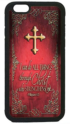 Bible Verse Cross Christian New Pattern Rubber Silicon Black Case Cover for iPhone6 6S Plus 5.5