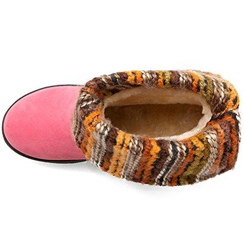 RAZAMAZA Women Boots Pull On Pink cpn5R2Osp