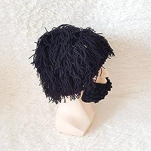 794aea5312be6 Tinksky Wig Beard Hats Knit Beard Mask Warm Winter Caps Funny Mask ...