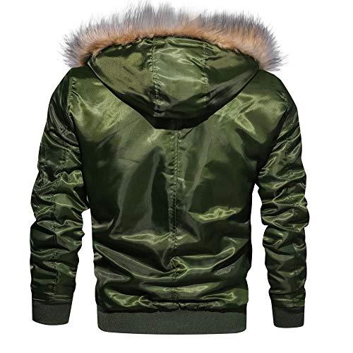 Haut À Vert Décontractée Manche Lianmengmvp Automne Zipper Capuche Chemisier Hommes Veste Longue Hiver Solide qpwa6FU8