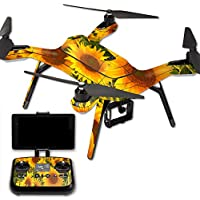 MightySkins Protective Vinyl Skin Decal for 3DR Solo Drone Quadcopter wrap cover sticker skins Sunflowers
