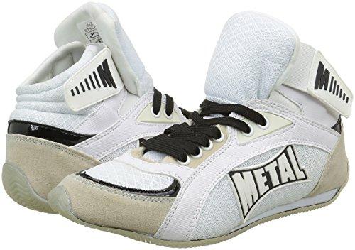 blanco Boxe Blanco nbsp; de Viper1 Altas Botas Boxeo Metal qa08xw8